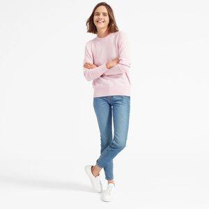 Everlane Pink Cashmere Crewneck Sweater, Small